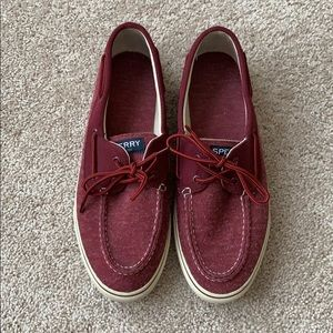 Sperry maroon boat shoes sz 12